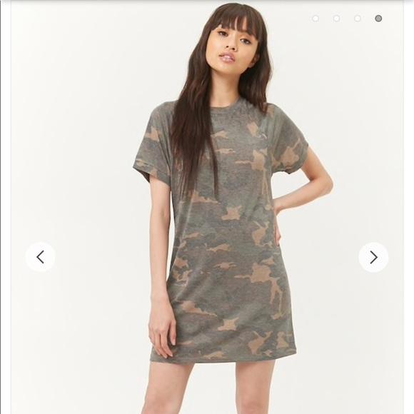 17b776c5391 Forever 21 Dresses   F21 Camo Tshirt Dress   Poshmark